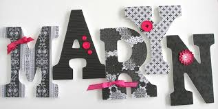 Letter Decorations For Nursery by Set Of 5 Decorated 9 Wooden Letters Nursery Name Décor