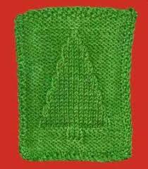 free knitting pattern christmas tree dishcloth christmas tree knit dishcloth pattern knitting pinterest