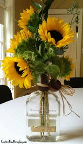 Sunflower Home Decor by Decor Astounding Clear Glass Vase For Sunflower Arrangements And