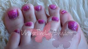 glitter toe nails youtube