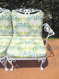 Vintage Woodard Wrought Iron Patio Furniture - woodard wrought iron sofa in the chantilly rose pattern at 1stdibs