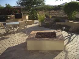 Desert Backyard Landscaping Ideas A Desert Backyard With A Large Manufactured Brick Floor Connecting