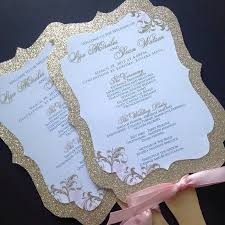 cheap wedding fan programs wedding fan programs glitter wedding fan programs gold wedding