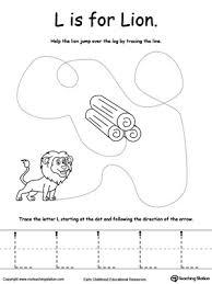 the letter l is for lion myteachingstation com