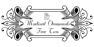 mortised ornaments free two font dafont