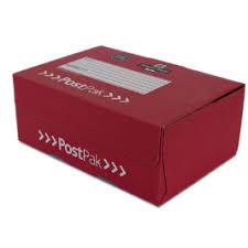 mailing boxes at royal mail shop