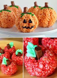 Rice Crispy Treat Pumpkins Fun Rice Krispie Treat Recipes Kids Kubby