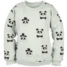 mini rodini panda reversible sweatshirt turquise polyvore