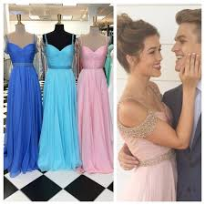 off the shoulder chiffon prom dresses long pretty pleated
