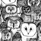 owl fabric wallpaper gift wrap spoonflower