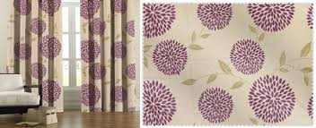 Aubergine Curtains Touched By Design Blossom Aubergine Ready Made Curtain Custom