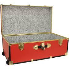 seward collegiate collection footlocker trunk with wheels 30