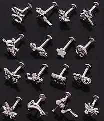 steel lip rings images 3 d steel 14g labret chin lip ring barbell with custom length post JPG