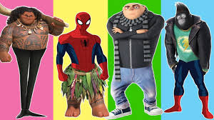 despicable me 3 wrong legs funny gru moana maui spiderman sing