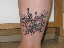 music note heart tattoo musical notes tattoos pinterest