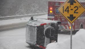 treacherous conditions rollovers spin outs route 6 stoppages