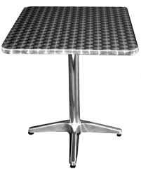 Bistro Set Outdoor Bar Height by Aaa Furniture Ttss2424 Stainless Steel 24 X 24 Square Table Top