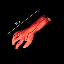 Halloween Prop Store by Bloody Hands Zombie Skinned Arm Walking Dead Skeleton Halloween