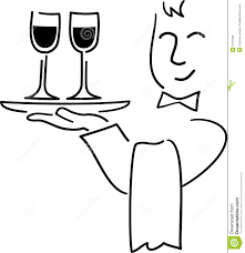 cartoon white wine cartoon waiter ai royalty free stock photo image 5197335