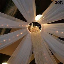 How To Drape Ceiling For Wedding Wedding Drapes Ebay