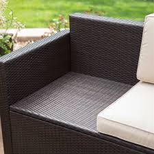 Wicker Resin Patio Chairs Outdoor Wicker Resin 4 Patio Furniture Dinning Set With 2