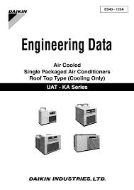 daikin engineering data air cooled single packaged air