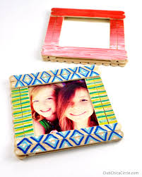 Where Can I Buy Lollipop Sticks Craft Stick Photo Frames Diy Club Chica Circle Where Crafty Is