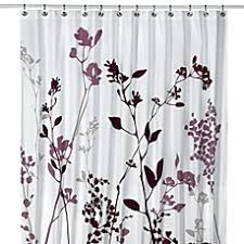Cloth Shower Curtains Reflections Purple Fabric Shower Curtain Bed Bath U0026 Beyond