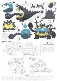 pokémon sun and moon concept art shows their weirdest pokémon are