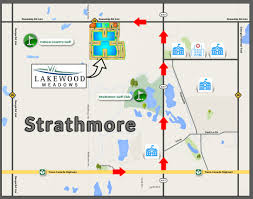 Trans Canada Highway Map by Lakewood Meadows Strathmore U0027s Newest Development