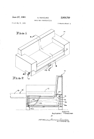 Sofa Drawing by Patent Us2989759 Sofa Bed Construction Google Patents
