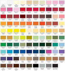color place paint color chart real fitness