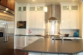 Steel Kitchen Backsplash Stainless Steel Kitchen Backsplash Bloomingcactus Me