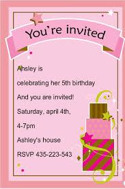 birthday card invitation templates free birthday card invitations