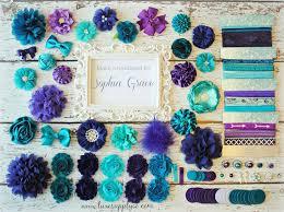 peacock baby shower teal purple baby shower diy headband kit peacock