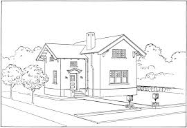 outline of houses clip art library