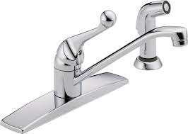 delta classic single handle side sprayer kitchen faucet in