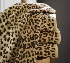Leopard Rugs Pottery Barn Leopard Jacquard 600 Gram Weight Bath Towels Pottery Barn