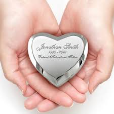 small cremation urns silver heart keepsake cremation urn engravable