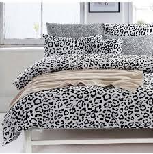 leopard print 100 cotton man women black and white 3pcs 4pcs