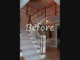 Replacing A Banister And Spindles Jusalda Stair Remodel Iron Balusters Custom Stair Youtube