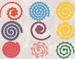 rolled rose template etsy