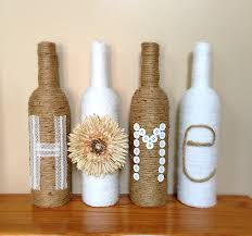 twine wrapped wine bottles rustic home decor decorated wine
