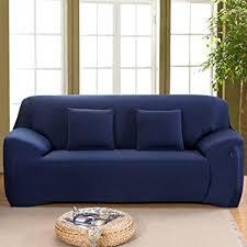 one piece stretch sofa slipcover amazon com bluecookies stretch sofa slipcover 1 piece 3 seater easy