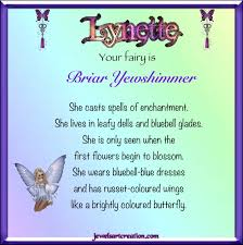 lynette fairy name jewels art creation