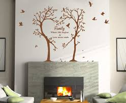 family love heart tree wall art sticker wall decal tree sticker