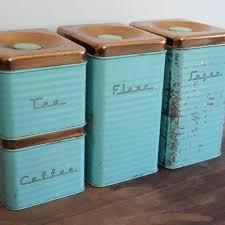 copper kitchen canister sets retro aqua kitchen canister set with copper lids aqua kitchen