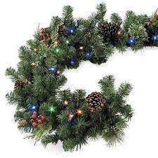 improvements indoor outdoor lighted christmas garland christmas light garland outdoor ideas christmas decorating