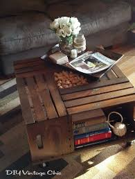 Homemade End Tables by 25 Best Crate Coffee Tables Ideas On Pinterest Wine Crate