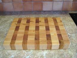 handmade ash maple red oak wood end grain cutting board